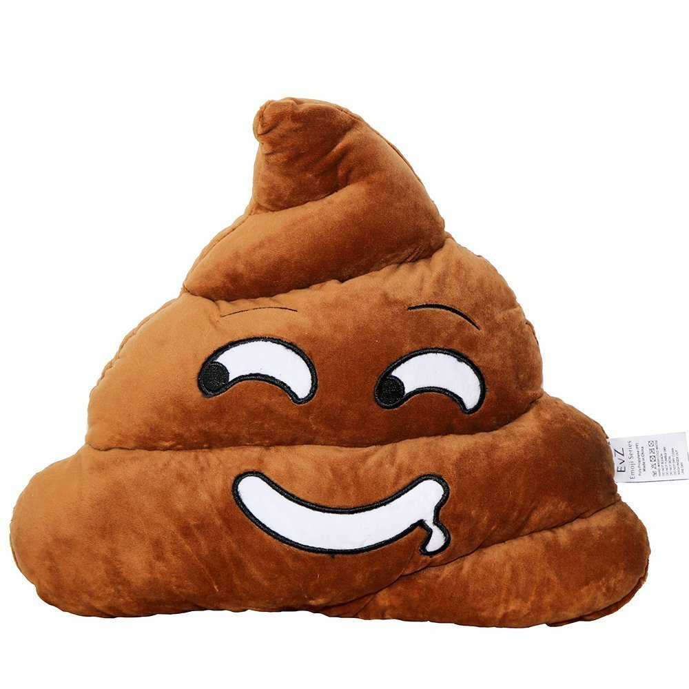 Poop 35cm Emoji Poo Emoticon Pink Triangle Cushion Stuffed Plush Soft Pillow EvZ