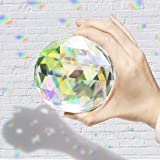 Together-life Clear Cut Crystal Suncatcher Ball Prisms Glass Sphere Faceted Gazing Ball Crystals for Home Décor, Window (100mm/3.94in)