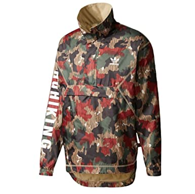 f1f5dfebdae59 adidas Men's Originals Pharrell Williams hu Hiking Camo Windbreaker ...