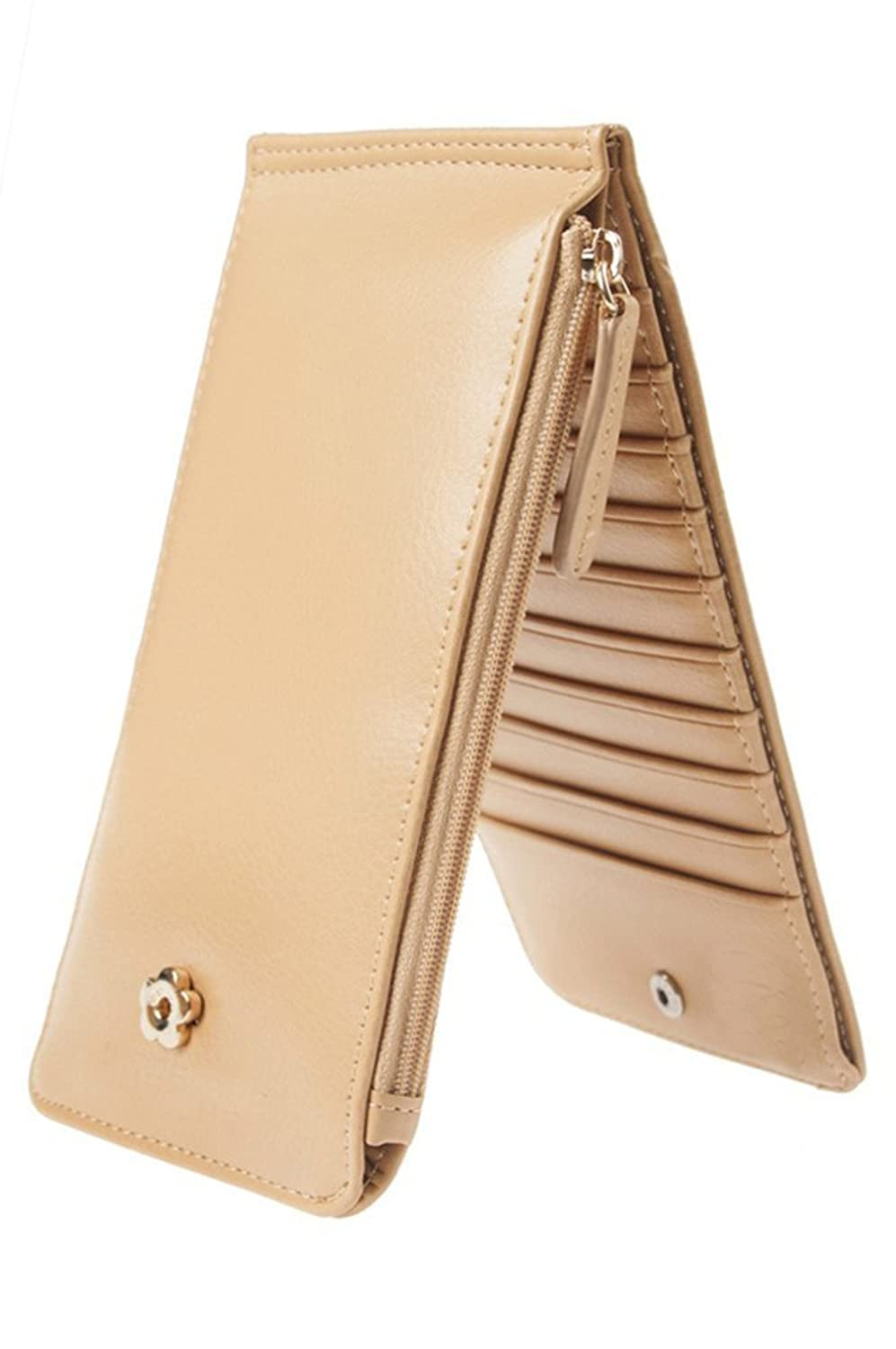 American Trends Womens Bifold Thin Card Holder Slim Wallet with Phone Pocket Pink ATACBS0956APAFS