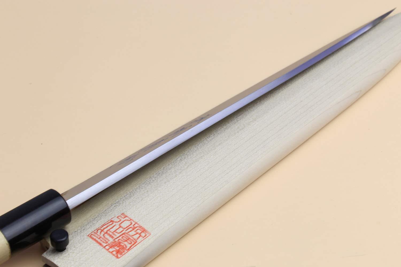 Yoshihiro Left Handed Shiroko High Carbon Steel Kasumi Yanagi Sashimi Japanese Chef Knife 10.5 Inch (270mm) by Yoshihiro (Image #5)