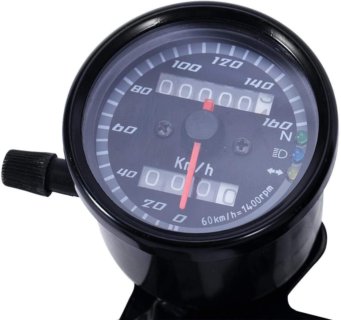 INNOGLOW 12V LED Motorcycle Odometer Speedometer 13000RPM Backlit Tachometer Dual Odometers for Scooter Yamaha SR XV RX Racer Suzuki Honda Kawasaki