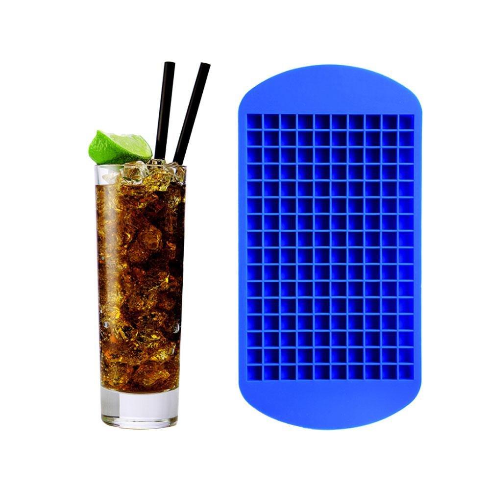 AOLVO Mini Plaque de Glace en 100% Silicone de qualité Alimentaire, 160 Petites grilles de Mini Moule à glaçons, Bleu