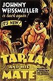 Tarzan and His Mate Poster Movie C 11x17 Johnny Weissmuller Maureen O'Sullivan Neil Hamilton