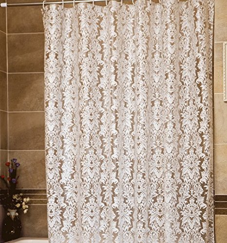 Lace Shower Curtain Vintage Country with Valance