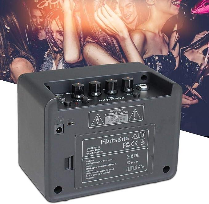 Amplificador de guitarra Mini Combo Amp (2 canales, portátil, entrada auxiliar para MP3/CD, conector para auriculares): Amazon.es: Instrumentos musicales