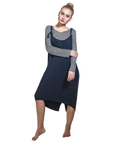 Cocco Bella Vestito scamiciato con t-shirt - Blu marina One Size (EU 36-40) leggero SUMMERNAVY