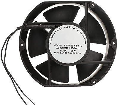 Liukouu FP-108EX-S1-S Ventilador axial de CA AC220V 38W Rodamiento de bolas ovalado Ventilación Ventilador de enfriamiento: Amazon.es: Bricolaje y herramientas