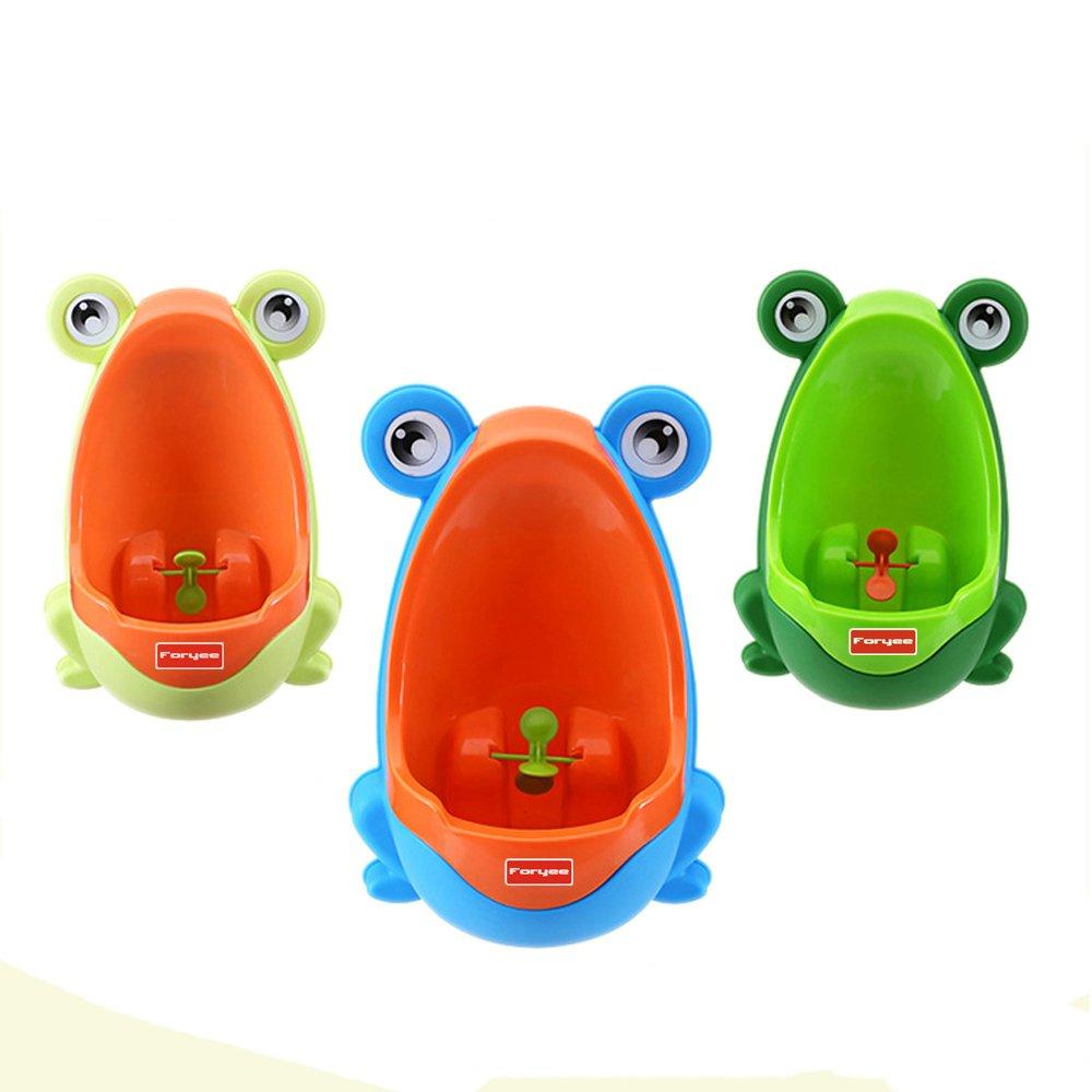 foryee S/ü/ßes Urinal zur Reinlichkeitserziehung im Frosch-Design mit lustiger Zielscheibe f/ür Jungen