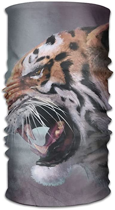 Headwear Headband Tiger Head Scarf Wrap Sweatband Sport Headscarves For Men Women