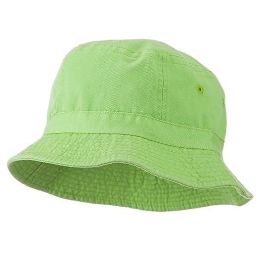 ab495de7 Amazon.com: Cameo Youth Pigment Dyed Bucket Hat-Apple Green OSFM ...