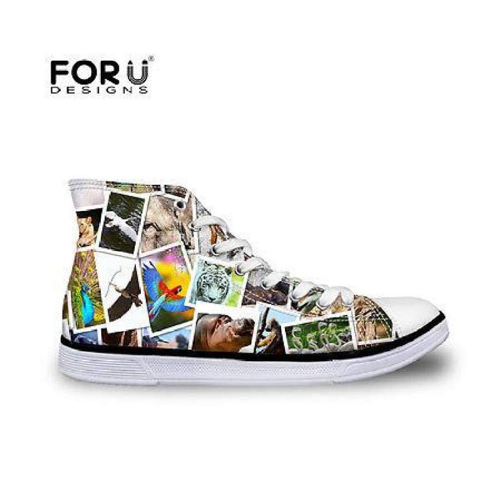FidgetFidget Soft Low High Top Canvas Shoes Comfort Casual Sneakers for Women Lady C4263AK cool animal9