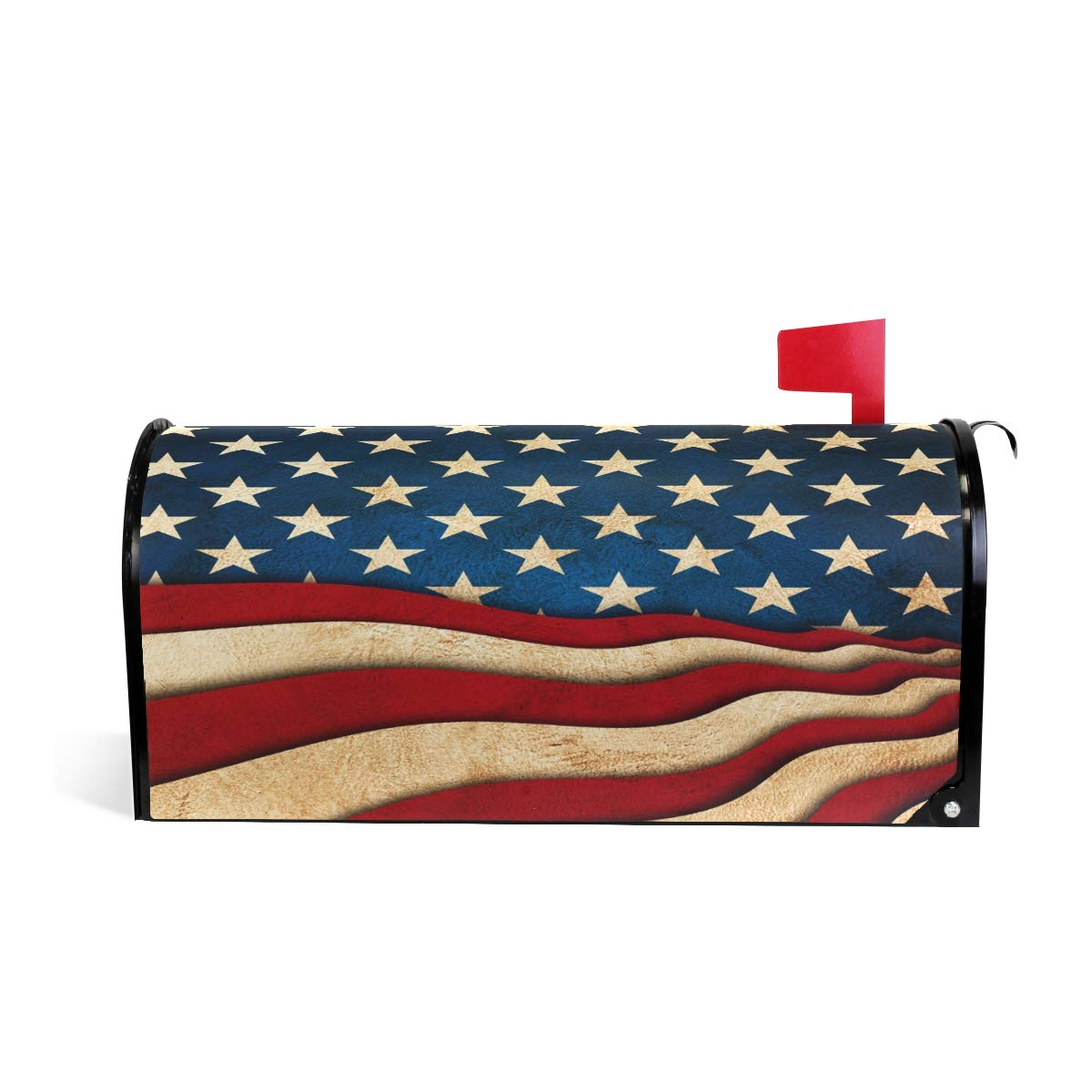 Wamika Magnetic Letter Mailbox Cover July Independence Day America Flag Decor Welcome Home Outdoor Standard Size by Wamika