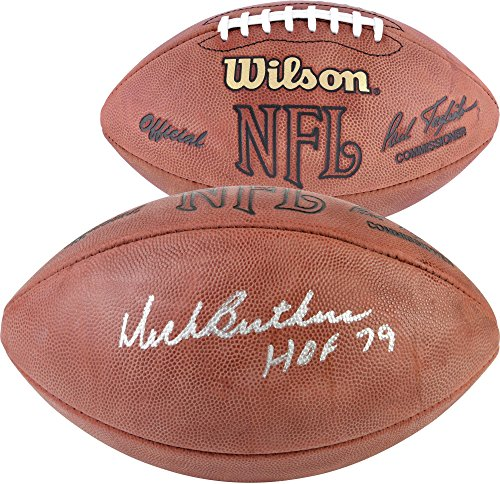 Dick Butkus Chicago Bears Autographed NFL Duke Game Football with HOF 79 Inscription - Fanatics Authentic Certified