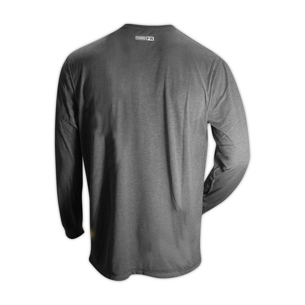 Magid Glove & Safety ARS650-GY-5XL Magid AR Defense NFPA 70E CAT2 6.5 oz. Jersey Arc-Rated Knit Shirt, Medium, Grey, 5XL by Magid Glove & Safety (Image #1)
