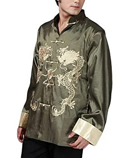 92dbaf8a0 THY COLLECTIBLES Traditional Chinese Embroidered Silk Satin Kung-Fu Tang  Jacket Coat Tai Chi Uniform