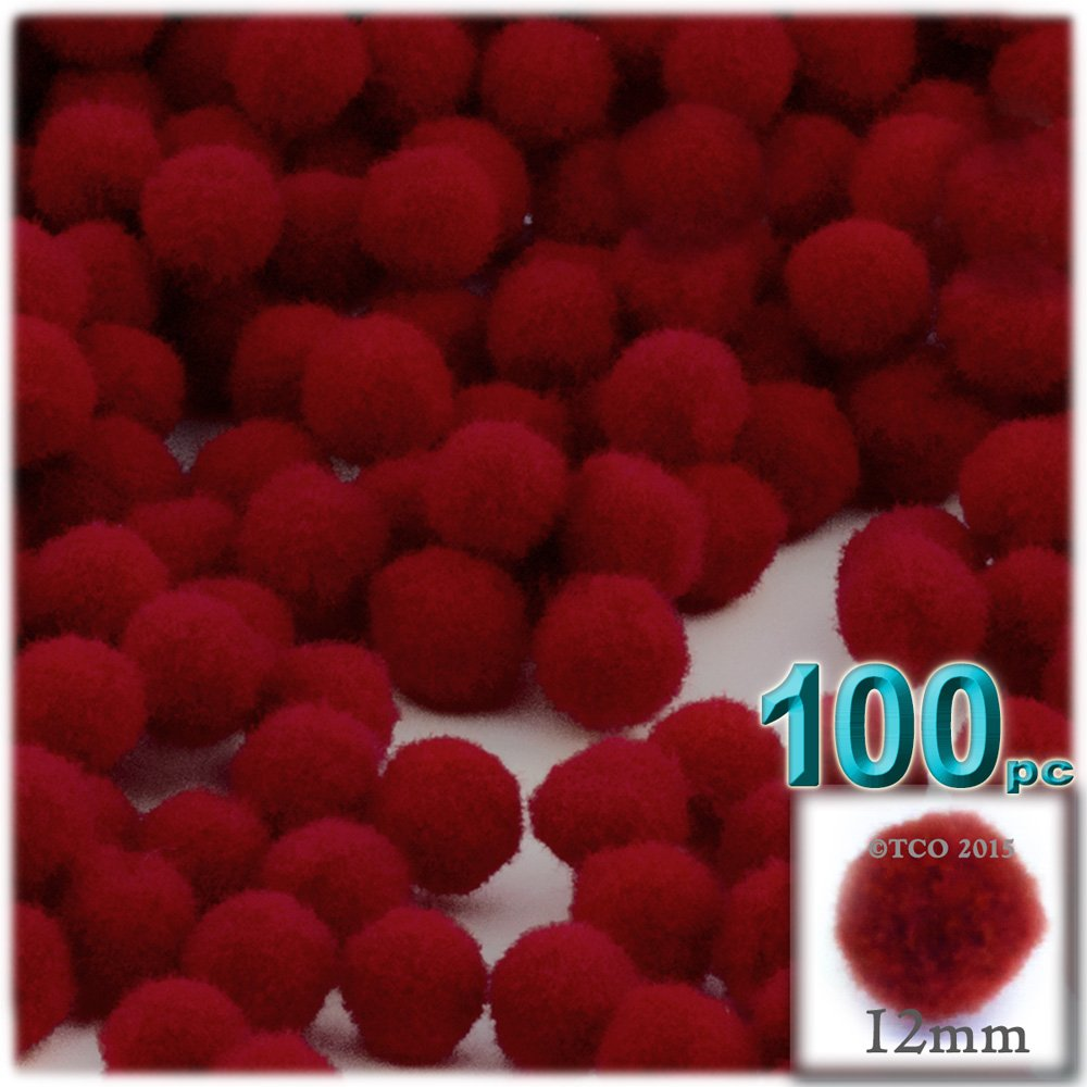 Acrylic Round 12mm//About 0.5-inch Royal Blue The Crafts Outlet 100-Piece Multi Purpose Pom Poms