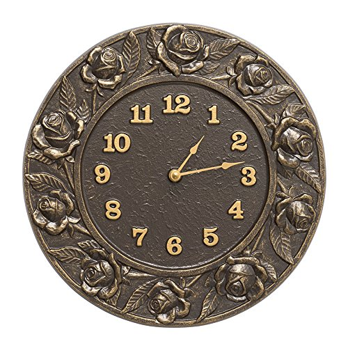Whitehall Products Rose Clock, French Bronze by Whitehall (Image #1)
