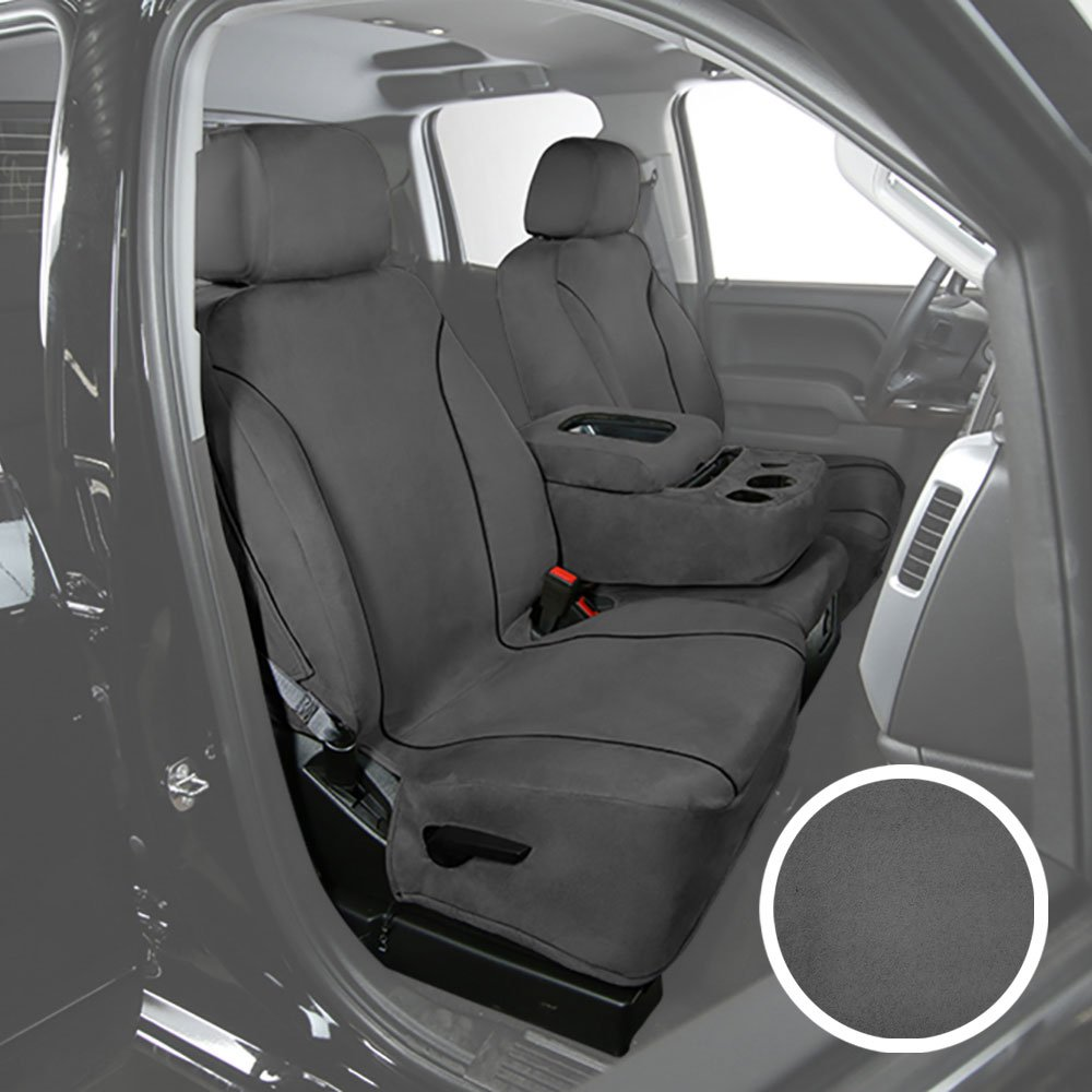 Saddleman S 179787-14 Gray Custom Made Rear Bench with 40-60 Back 3 Headrests and bolsters Seat Covers