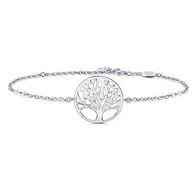 Bracelet arbre de vie en argent symbole de l'amour éternel pour femme.