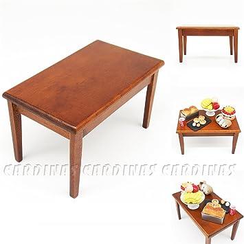 Odoria 112 Miniature Wooden Desk Dining Table Dollhouse Furniture  Accessories