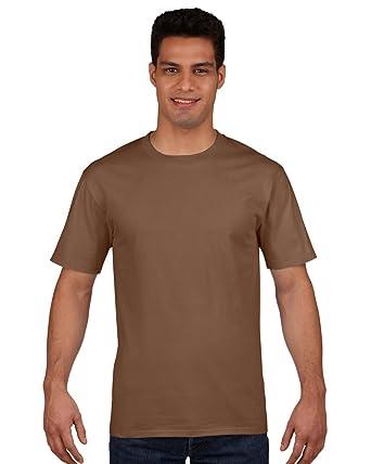 2014bd20257807 Gildan Premium Cotton Ring Spun T-Shirt Colour=Chestnut Size=L: Amazon.co.uk:  Clothing
