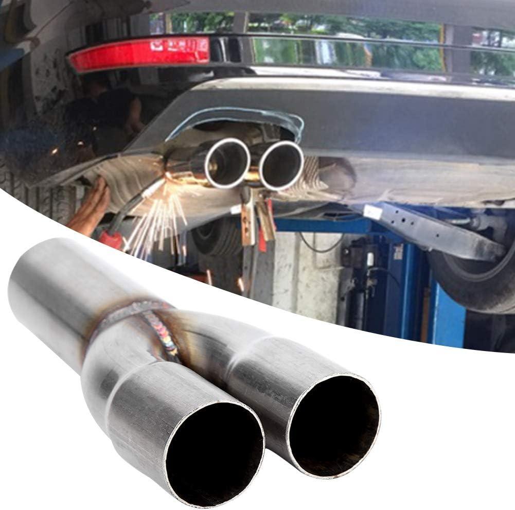 Universale Terminale di Scarico Silenziatore Marmitta Di Coda a Doppia Uscita in Acciaio Inox per Autoveicoli 1.5 Inch Tubi Terminali per Auto