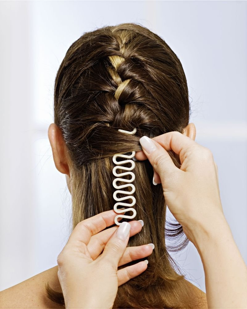 GKA Flechthilfe Zopfhilfe Zopffrisur Zopf Haare flechten Pferdeschwanz Twister Haare stylen 3P