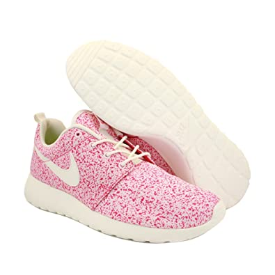 imlbe Nike Roshe Run 511882 101 Womens Laced Mesh Trainers Pink White