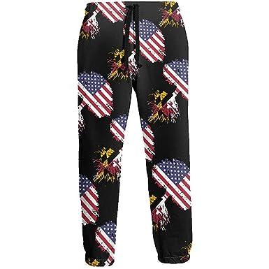 NA Maryland American Flag Tree of Life Pantalones de chándal ...