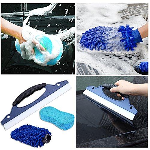 rgtopone/Squeeze para limpiaparabrisas de coche de limpieza Lavado manopla de microfibra Esponja//Libre de arañazos multifuncional Kits de limpieza para ...