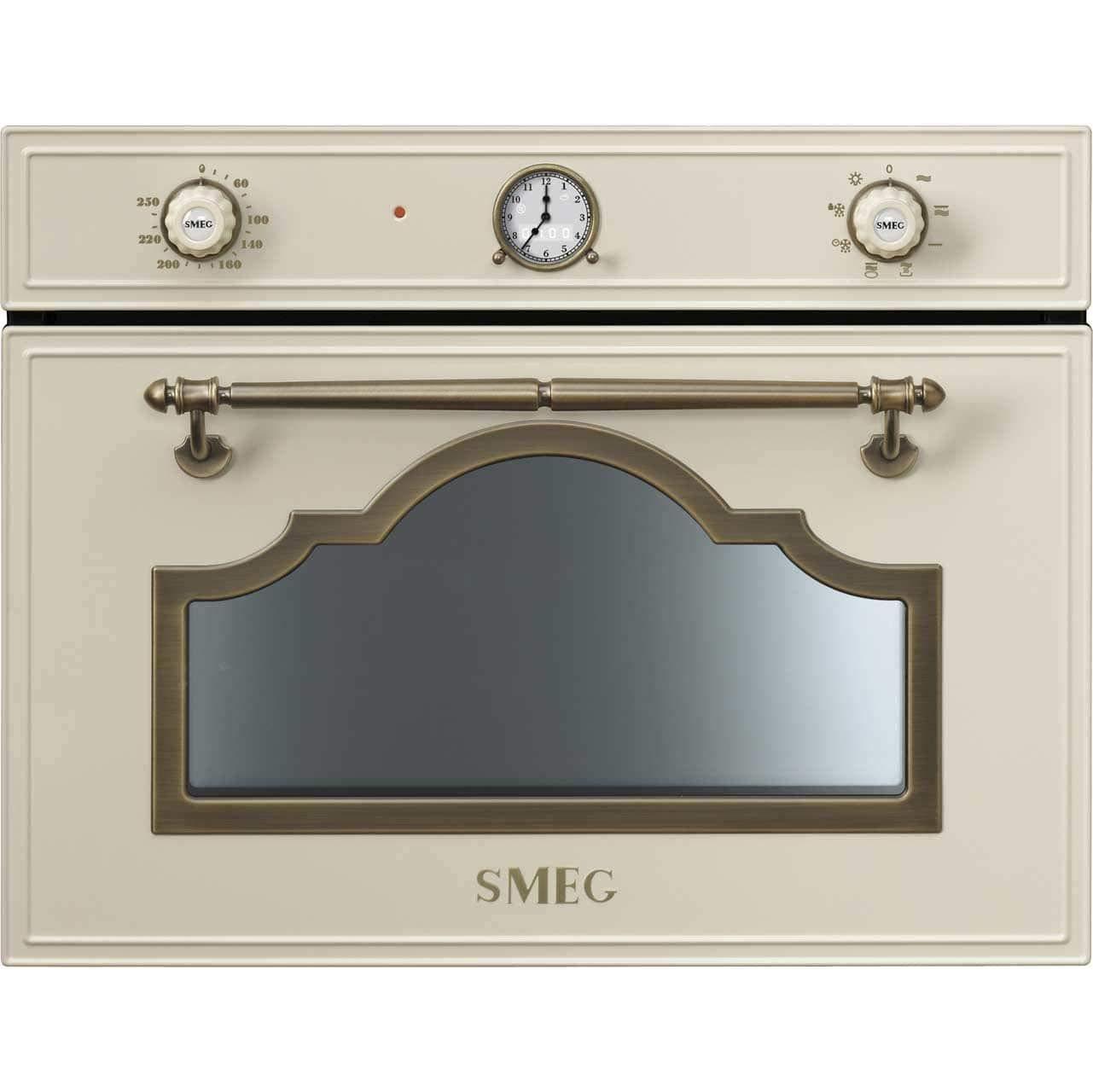 Smeg SF4750MPO - Microondas (1000 W, Beige, Giratorio, Analógica ...