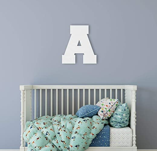 Amazoncom Initial Wall Decor Wooden Letter Nursery Decor Wooden