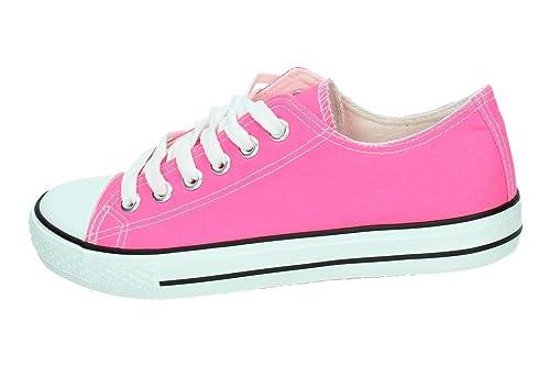 ZAPATOP 85-108 Zapatillas DE Lona Mujer Zapatillas Fuxia 40: Amazon.es: Zapatos y complementos
