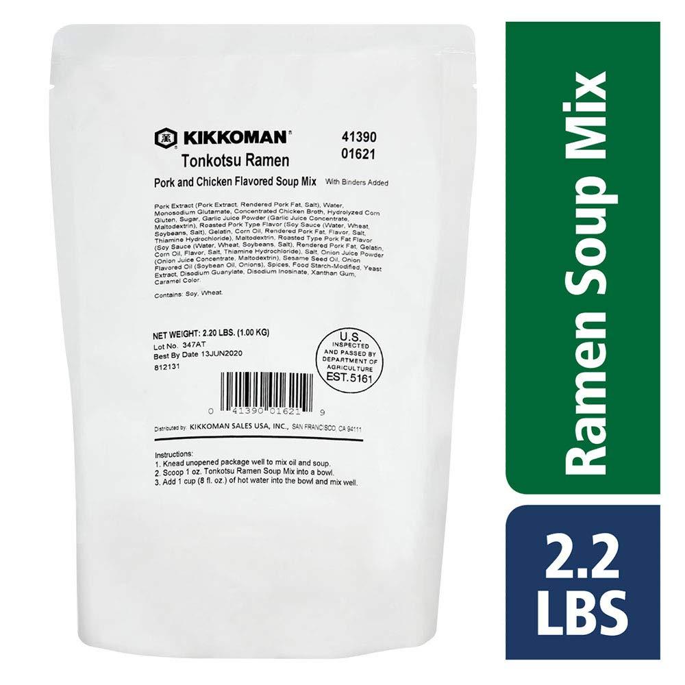 Kikkoman 2.2 LB Tonkotsu Ramen Soup Mix for Foodservice Use by Kikkoman