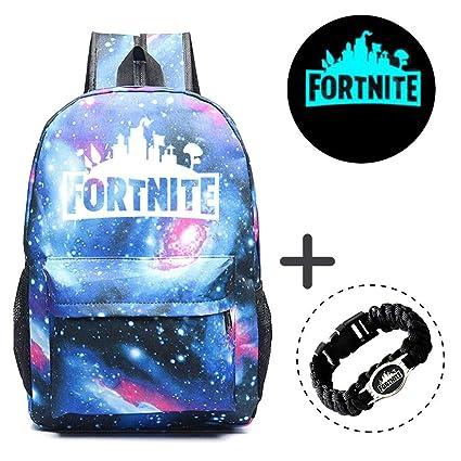 5e35087f71aa Gorgebuy Luminous Backpack - Galaxy Schoolbag Glow In Dark Backpack Rucksack  Laptop Book Satchel Hiking Bag