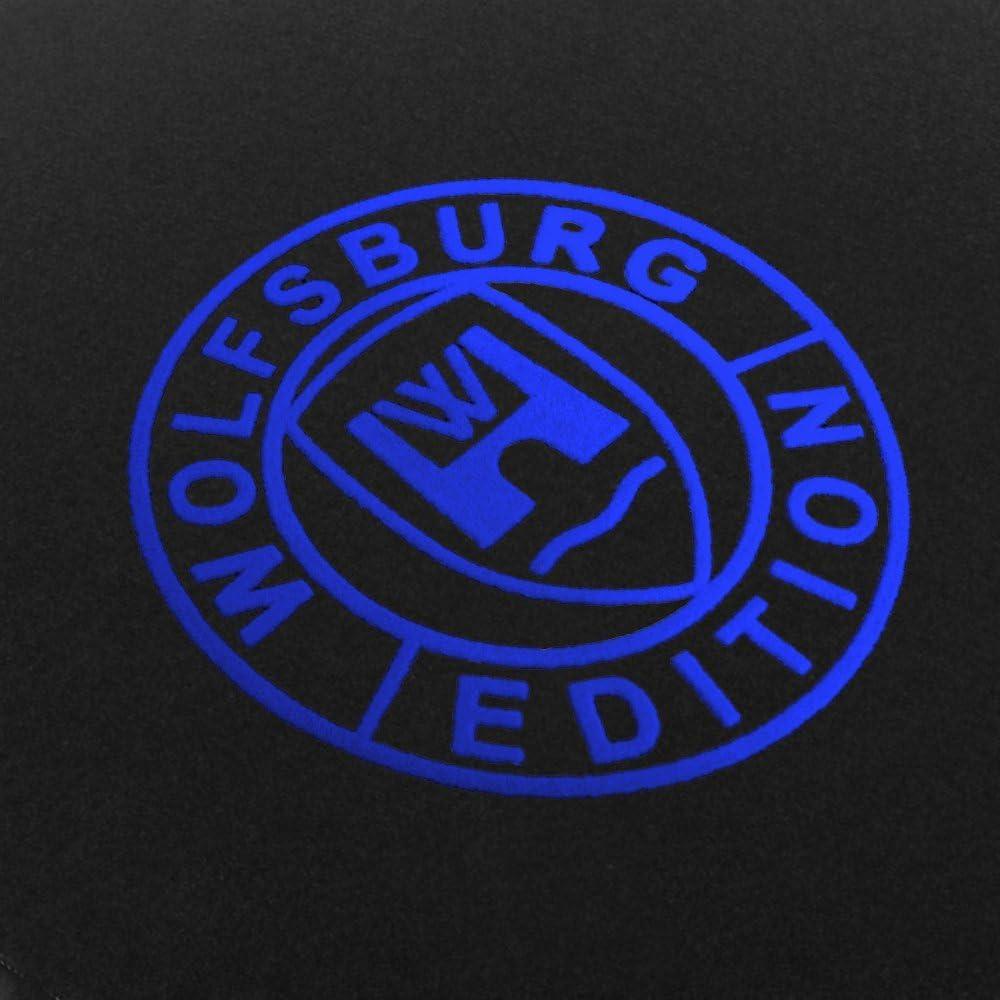 Passform Fu/ßmatten aus Nadelfilz Schwarz mit Druck Wolfsburg Edition Q100-WOB-204/_VW/_013