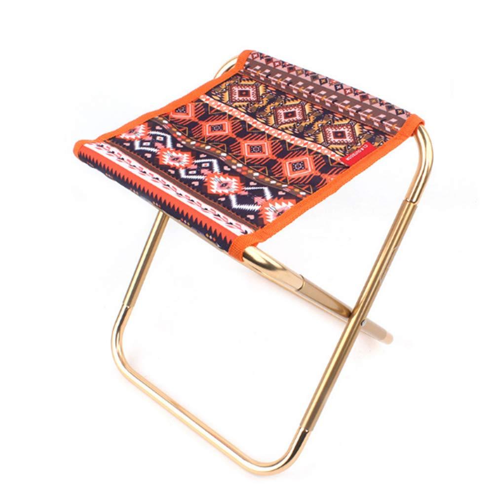 Trifycore silla plegable portátil Mini plegable Oxford heces paño silla de camping duradero estilo étnico con la bolsa para ir de excursión de pesca recorrido al aire libre, De productos de deporte y tiempo libre
