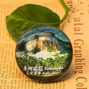 Angel Falls Venezuela Refrigerator Fridge Magnet City World Crystal Glass Handmade Tourist Travel Souvenir Collection Gift Strong Word Letter Sticker Kids