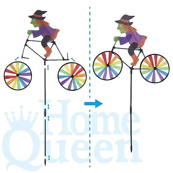Wind Spinner Windmill Pinwheel Triple Wheel Yard Lawn Garden Rainbow Decor Art