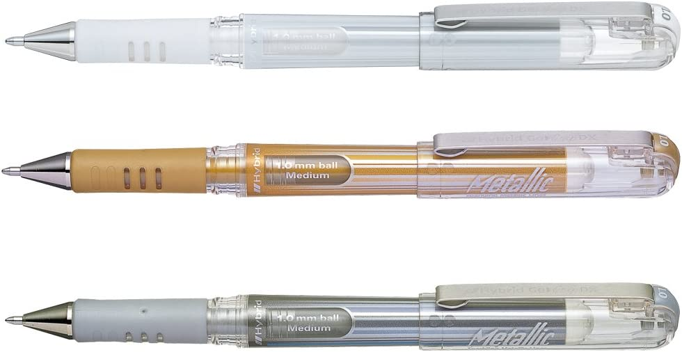 Pentel Hybrid Gel-Tintenroller weiß Pentel K230-W