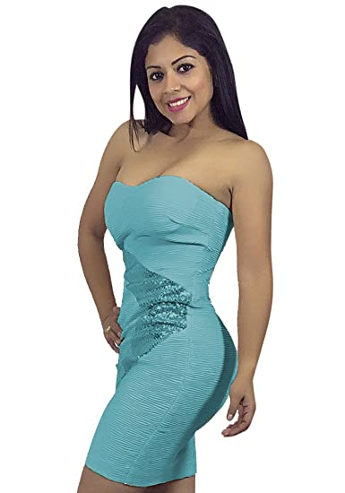 Image Unavailable. Image not available for. Color  Women s Strapless  Bodycon Dress ... f8646c7b9