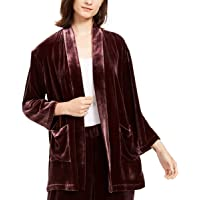 Eileen Fisher Womens Silk Blend Open Front Kimono Purple M