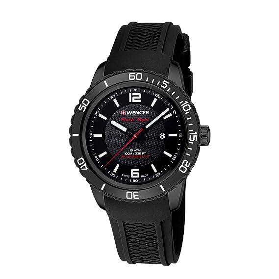 Wenger Roadster Black Night 01.0851.124 - Reloj de pulsera unisex, Negro/Negro: WENGER: Amazon.es: Relojes