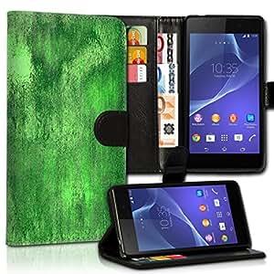 Wallet Wicostar–Funda Case Funda Carcasa diseño Funda para Sony Xperia M4Aqua–Diseño Flip mvd27