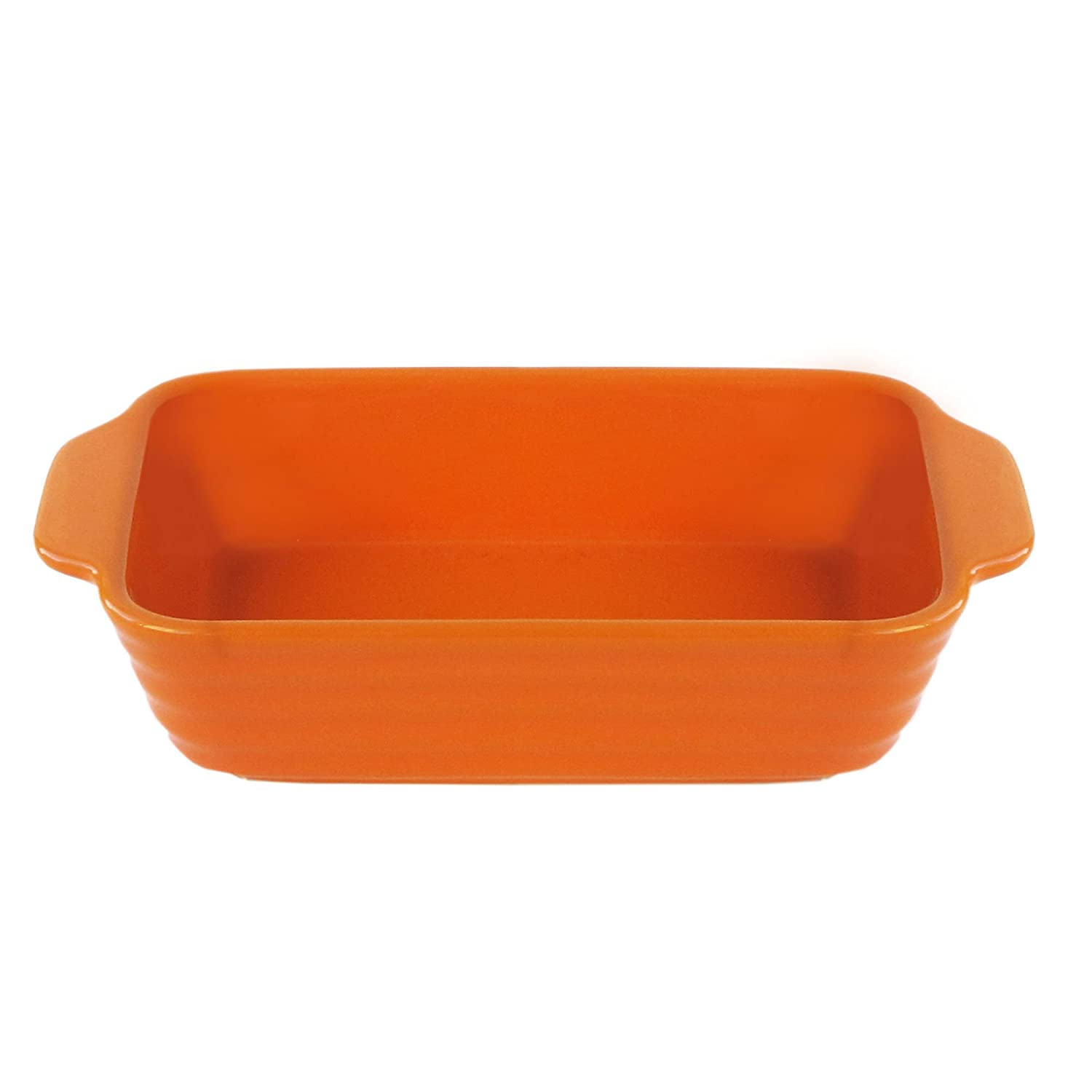American Atelier Bistro Rectangle Bake and Serve Bowl, Orange 6235-BKS-R