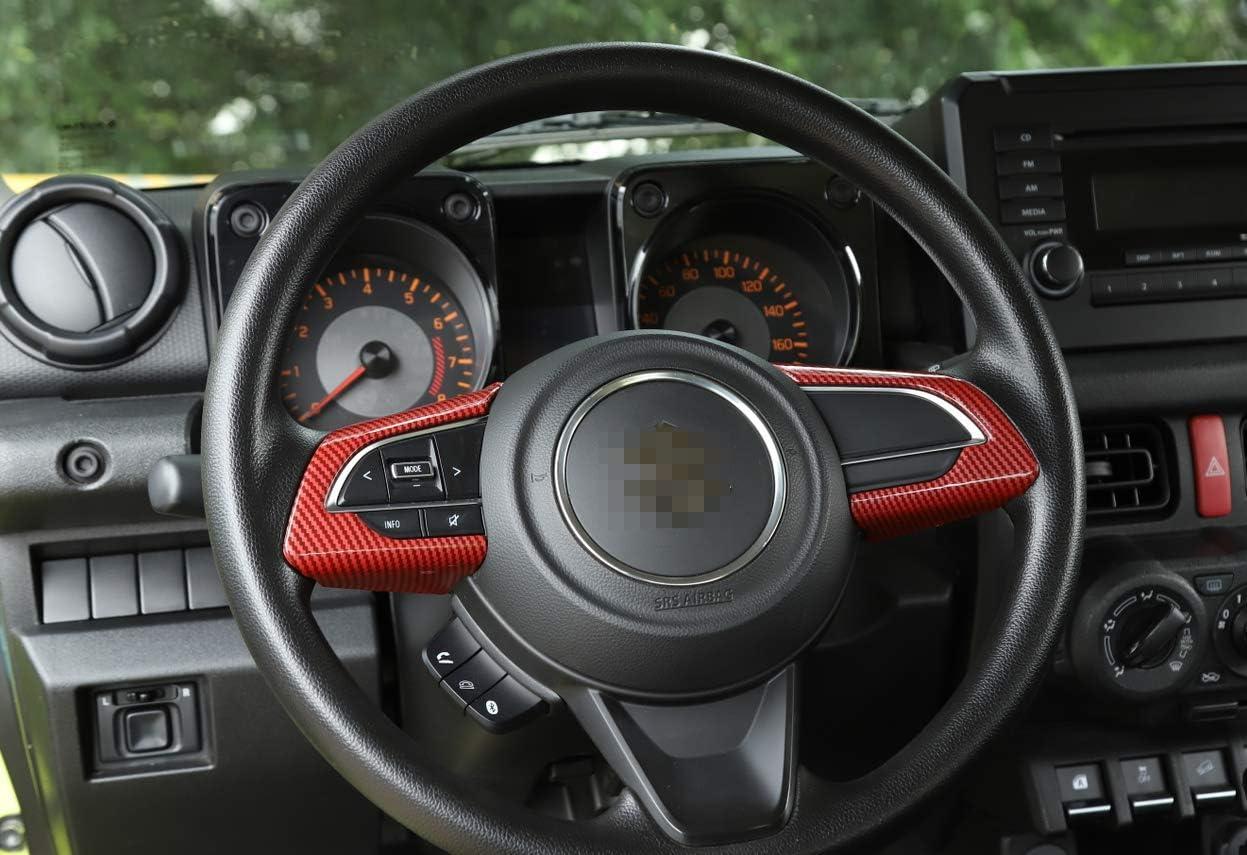 Funda decorativa para volante de coche de pl/ástico ABS para Suzuki Jimny 2019-2020 Vpcar Jimny