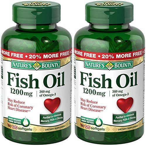 Nature's Bounty Fish Oil 1200mg, 240 Softgels (2 X 120 Count Bottles)