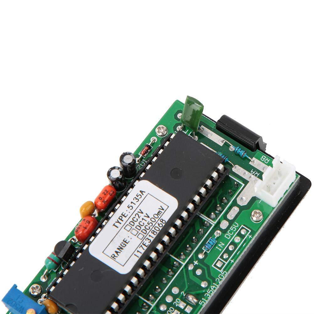 Volt/ímetro digital 5135A DC5V Mootea volt/ímetro de CC de alta precisi/ón 3 1//2 medidor de panel digital con LED rojo DC500mV//DC1V//DC2V