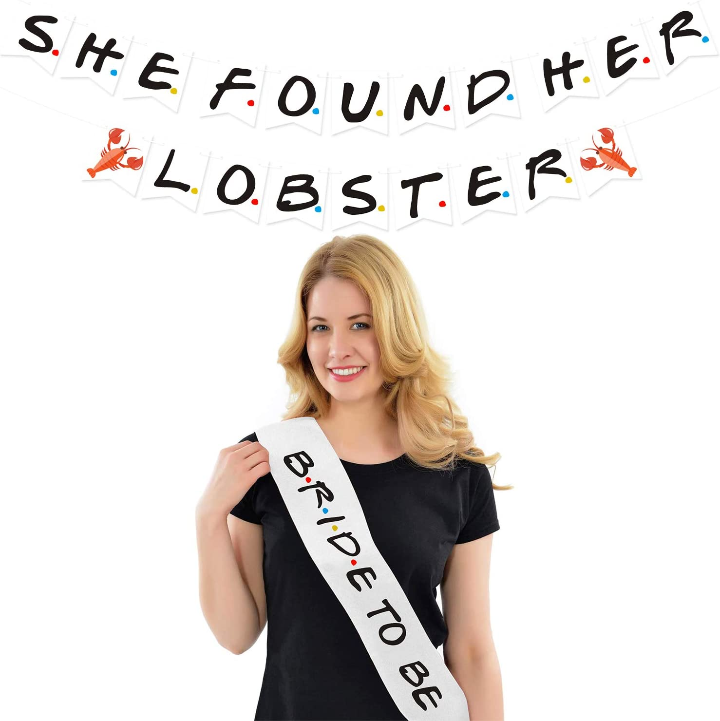 she found her lobster Friends inspired bachelorette favour Tie Set friends themed bachelorette favours friends themed bachelorette